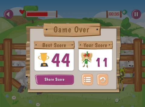 Mobile game AgriKids farm safe