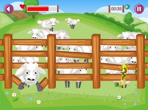 Mobile game AgriKids farm safe
